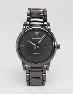 Черные наручные часы из нержавеющей стали Emporio Armani AR1508 - Черный