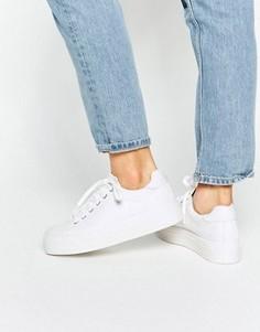 Кроссовки на платформе ASOS DAY - Белый