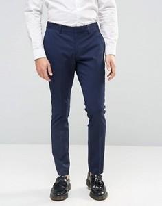 Зауженные брюки стретч Selected Homme - Темно-синий