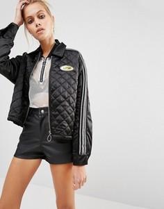 Атласная куртка в стиле 90-х UNIF - Черный