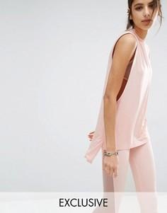 Майка с заниженными проймами Bones Essential - Розовый