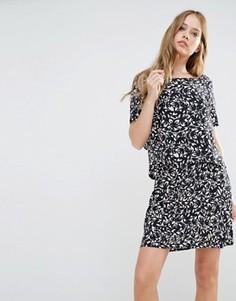 Двухслойное платье Y.A.S Petunia - Мульти