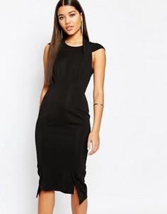 Платье миди с глубоким V-образным вырезом сзади AQ/AQ Hoven - Черный