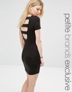 Облегающее платье с открытой спиной Noisy May Petite - Черный