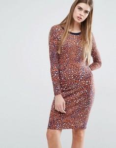 Облегающее платье с леопардовым принтом Baum und Pferdgarten Elana - Мульти