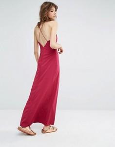 Платье макси Samsoe & Samsoe Cerena - Красный