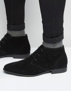 Черные ботинки чукка из искусственной замши ASOS - Черный