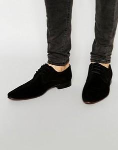 Черные замшевые туфли дерби ASOS - Черный