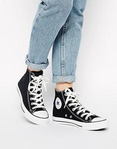 Высокие черные кроссовки Converse All Star - Черный