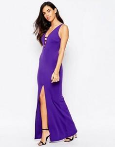 Платье макси на бретельках с разрезом Jessica Wright Serena - Фиолетовый