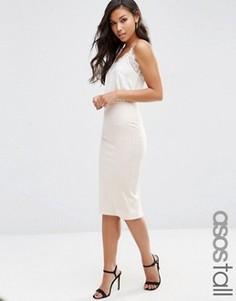 Платье миди со свободным верхом ASOS TALL - Белый