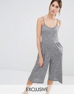 Комбинезон с юбкой‑шортами Stitch & Pieces - Серый