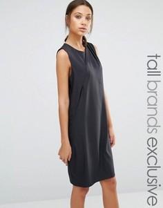 Платье-футляр без рукавов с плиссировкой спереди Y.A.S Tall Alberte - Черный
