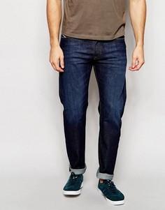 Эластичные темные джинсы слим классического кроя Diesel Buster 844C - Синий