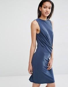 Облегающее платье с драпировкой Just Female Carey - Синий