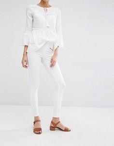Джинсы скинни с молнией Vero Moda - Белый