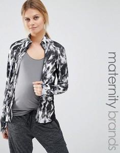 Повседневная куртка на молнии с принтом Mamalicious - Мульти Mama.Licious