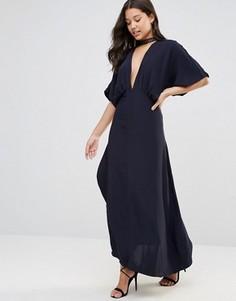 Платье с запахом Foxiedox Jasmine - Темно-синий