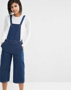 Джинсовый комбинезон с юбкой‑шортами Vero Moda - Темно-синий