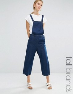 Укороченный джинсовый комбинезон Vero Moda Tall - Синий