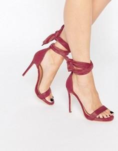 Сандалии на каблуке с завязками Public Desire Sakura - Красный