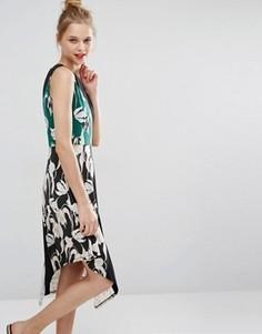Платье миди со смешанным принтом BCBG Max Azria - Мульти