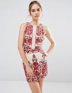 Платье без рукавов с вышивкой Endless Rose - Мульти