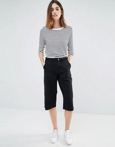 Джинсовая юбка‑шорты с плетеной отделкой Vila - Черный