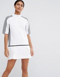 Платье-свитшот с заниженной талией Nike Premium Court - Черный