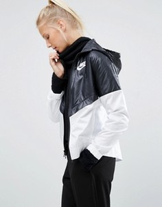 Ветровка с капюшоном Nike - Черный