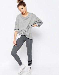 Спортивные брюки скинни с полосками Sundry - Серый