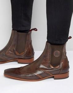 Кожаные ботинки челси Jeffery West Scarface - Коричневый