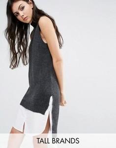 Платье-джемпер без рукавов с высокой горловиной Noisy May Tall - Серый