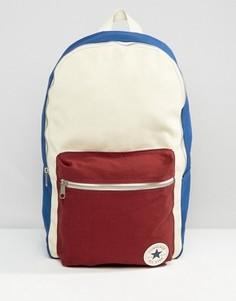 Парусиновый рюкзак с контрастным карманом Converse - Мульти