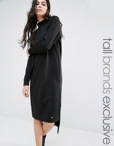 Трикотажное платье миди с высоким воротом и длинными рукавами Noisy May Tall - Черный