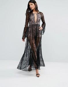 Кружевное платье макси The Jetset Diaries Majestic - Черный