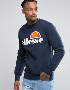 Свитшот с классическим логотипом Ellesse - Синий