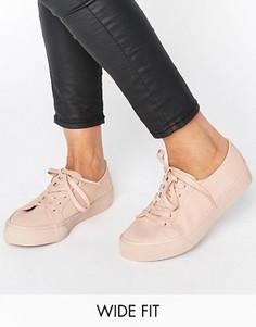 Кроссовки на шнуровке для широкой стопы ASOS DESTINY - Бежевый