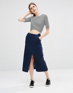Джинсовая юбка миди Just Female Lucer - Синий