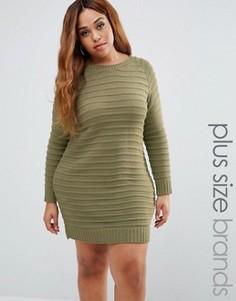 Платье-джемпер Boohoo Plus - Зеленый