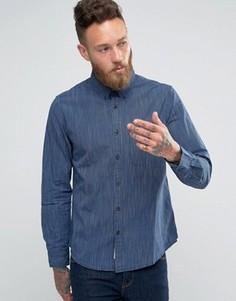 Полосатая рубашка цвета индиго на пуговицах Lee - Синий