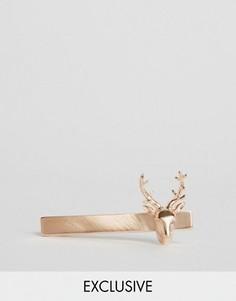 Розово-золотистый зажим для галстука Simon Carter эксклюзивно для ASOS - Золотой