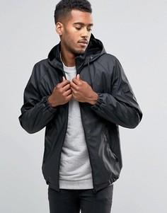 Водостойкая куртка для бега с капюшоном D-Struct - Черный