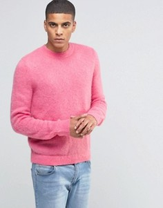 Розовый джемпер из смешанного мохера с круглым вырезом ASOS - Розовый