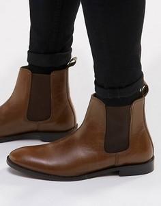 Кожаные ботинки ASOS Chelsea - Рыжий