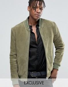 Замшевая куртка‑пилот Black Dust - Зеленый