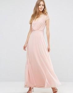 Платье макси с кружевом ASOS Kate - Розовый