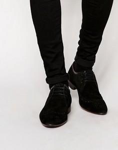 Черные замшевые броги ASOS - Черный