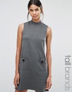 Свободное платье с высокой горловиной Vero Moda Tall - Серый