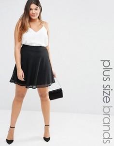 Сетчатая пышная юбка Junarose - Черный